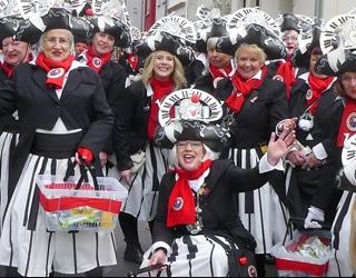 Karnevalszug in Beuel Mit Beethoven an jeder Eck
